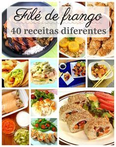40 receitas diferentes com filé de frango para variar sempre Easy Cooking, Healthy Cooking, Cooking Recipes, Healthy Recipes, Menu Dieta, Mexican Food Recipes, Ethnic Recipes, Portuguese Recipes, 30 Minute Meals