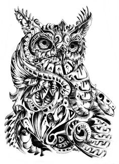 I must say, these abstract animals are fun to do! Anyway, my abstract interpretation of the Great Horned Owl. Just to inform everyone this is not my usual style, in fact it's probably as far as you...