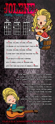 Dolly Parton - Jolene - UKULELE SONGSTRIP by Astriaha