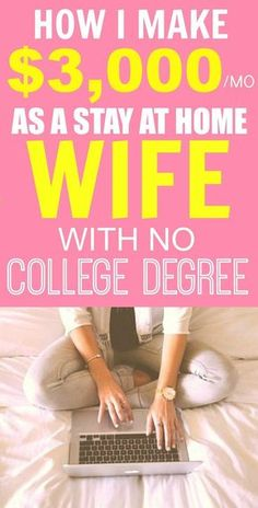 How she made $3k as a stay at home wife is AMAZING! I'm so inspired and her tips have DEFINITELY helped me out! I've already started making income! I'm so glad I found this post! I'm SO pinning for later!