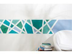 Egyedi bordűr falfestés geometrikus mintával