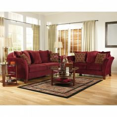 Living Room Decorating Ideas Burgundy Sofa burgundy living room furniture | color: burgundy home | pinterest