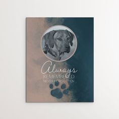 Personalized wall art to be cherished furever. Perfect gifts for any dog lover. Dog Quotes, Dog Home Decor, Dog Died, Dog Artwork, Personalized Wall Art, Mini Canvas, Best Friend Quotes, Rainbow Bridge
