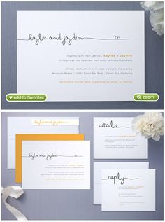 These are definately what I'm doing for my wedding invitations! Ugh so beautiful. I love it. So simple.