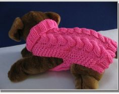 Dog sweater knitting pattern Celtic Doggie Smart Cables Sweater PDF