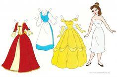 Muñecas recortables de las princesas Disney