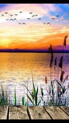 Ein  schöner Tag geht - der Abend kommt