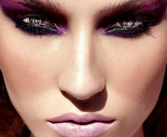 Blend a colored eye shadow up into your brow.