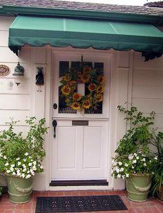 Nice front door awning