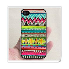 Geometric Colors Hand Drawn Pattern RUBBER iphone 4,