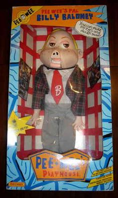 """Billy Baloney 18"""" Ventriloquist Doll by Matchbox (Pee Wee Herman 1988)"""