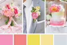 This yellow and pink wedding inspiration board is a gorgeous combo of sorbet shades that will have you dreaming of brighter, summer days...