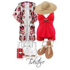 Splendid Lace Pure Color Two-Piece Tankini SAle Tidestore #Tidestore #Polyvoresets # Tankini
