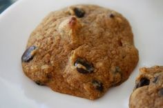 Pumpkin Spice Chocolate Chip Protein Cookies - super easy to make, low calorie, high protein.
