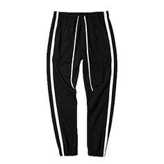 Elonglin Mens Jogging Training Trousers Track Pants Athletic Elastic Waist