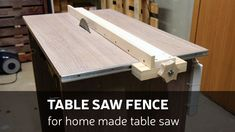 Picture of How to Make a Table Saw Fence for Homemade Table Saw
