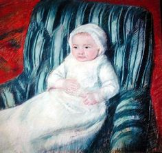 Child On A Sofa, Miss Lucie Berard by Mary Cassatt.