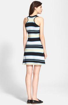 A.L.C. 'Dorit' Stripe Knit Fit & Flare Dress   Nordstrom