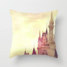 Disney Cinderella Castle Throw Pillow by AndreaClare - $20.00