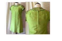 60s Dress Beautiful  chartreuse Green With by FlirtingWithVinTaGe, $125.00