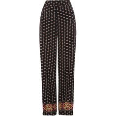 **Jojoba Palazzo Trousers by TFNC (€22) ❤ liked on Polyvore featuring pants, pants/leggings, black, tfnc, palazzo pants and palazzo trousers
