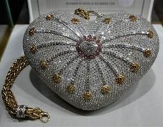 the most expensive handbag in the world.  Millions of dollars worth of diamonds.  It's ugly.