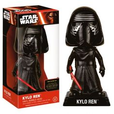 This is the Star Wars Force Awakens Wacky Wobbler Kylo Ren Bobble Head Figure that is produced by Funko. Star Wars fans are super excited to see Kylo Ren on the big screen and it's neat to see that he Star Wars Kylo Ren, Star Wars Vii, Star Trek, Funko Pop Star Wars, Star Wars Toys, Paw Patrol, Star Wars Episodio Vii, Doctor Who, Vinyl Figures