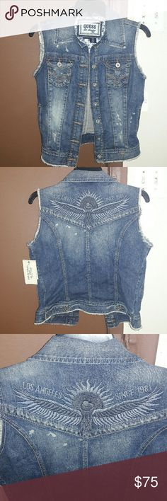 Guess Jeans Vest New with tags Guess Jackets & Coats Vests
