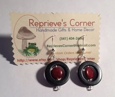 Circles: Handmade Earrings Featuring Stone and Glass Beads on Etsy, $7.99