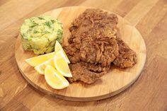 Ardanın Mutfağı Et Şinitzel Schnitzel Recipes, Beef Tenderloin, Meat Recipes, Guacamole, Steak, Stuffed Peppers, Homemade, Dishes, Cooking