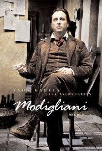 Modigliani Directed by Mick Davis. With Andy Garcia, Elsa Zylberstein, Omid Djalili, Hippolyte Girardot. The story of Amedeo Modigliani's bitter rivalry with Pablo Picasso, and his tragic romance with Jeanne Hebuterne. Andy Garcia, Great Films, Good Movies, The Artist Movie, Rivera, Amedeo Modigliani, Period Movies, See Movie, Music Film