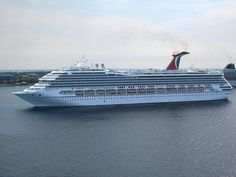 CARNIVAL CONQUEST CRUISE SHIP - Stats according to Ship Mate mobile app:  Year Built: 2002 Passengers: 2,974 Crew: 1,150 Weight: 110k tons Length: 951 feet Speed: 26 mph Cost: 500 million
