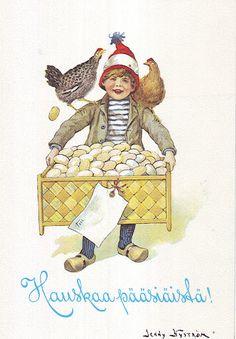 JENNY NYSTROM Vintage Cards, Vintage Postcards, Easter Parade, Vintage Easter, Holiday Cards, Diy And Crafts, Illustration Art, Clip Art, Seasons