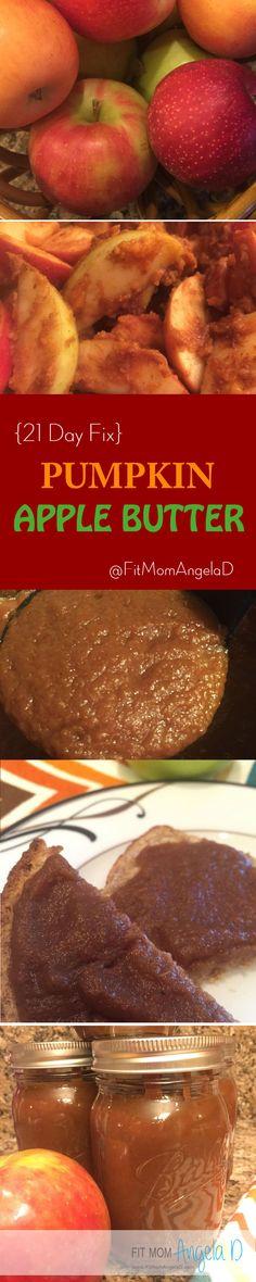 21 Day Fix Approved Pumpkin Apple Butter | Sugar Free | Gluten Free | Fall Eats | Healthy Recipe | www.fitmomangelad.com