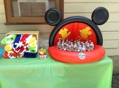 Mickey drink and towel station
