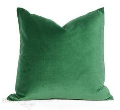 Emerald Green Velvet Pillow Cover  Decorative by studiotullia