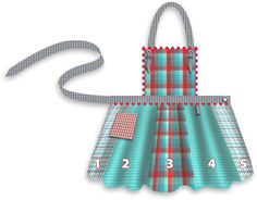 Fat Quarters Plaid Apron in Moda's Wee Wovens Brights   Sew4Home