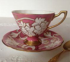 Pink Spencer Stevenson Royal Stuart Tea Cup & by TheEclecticAvenue