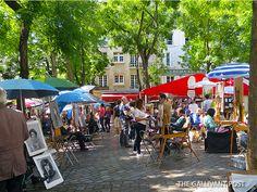 Monmartre quarters in Paris