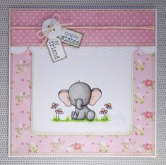 Cute pink elephant birthday card (image from My Favourite Things)