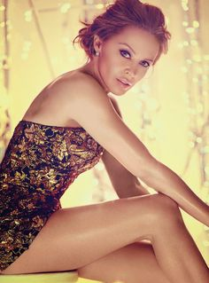 super glam Fashion Editorial | Kylie Minogue: Vogue. Makeup, skin and hair.