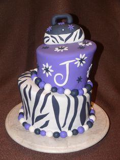Cute cake....love zebra print!