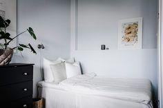 Light colored studio apartment