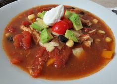 Healthy Southwestern Chicken Soup