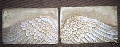 ANGEL WINGS WALL ART SCULPTURE PLAQUE HOME DECOR SET Hand Made in USA by www.NEO-MFG.com