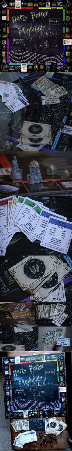 Homemade Harry Potter Monopoly// if this sold on Etsy, I would totally buy this!