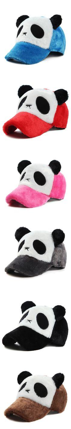 Brand New Adult Winter Baseball Caps Cotton Cartoon Panda Embroidery Unisex Sun Hat Casual Adjustable Hip-hop Hat Snapback Caps