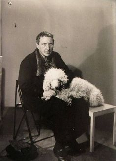 Gertrude Stein and her dog Basket