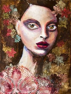 by Jill Geraghty-Groves... I LOVE how she creates texture with fabrics, laces, etc.  the flowers on here are amazing