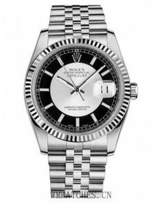 Rolex Datejust 36mm Steel Silver and Black Dial Jubilee Bracelet Watch 116234 STBKSJ